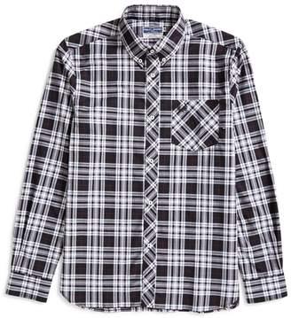 Fred Perry Long Sleeve Tartan Shirt Black