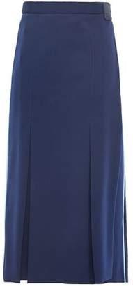 Prada Striped Jersey Midi Wrap Skirt