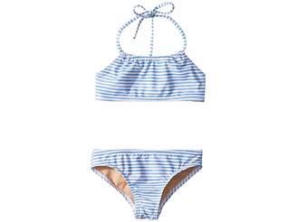 Toobydoo Watercolor Blue Bandeau Halter Bikini (Infant/Toddler/Little Kids/Big Kids)