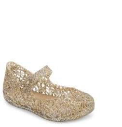 Mini Melissa Baby's& Toddler's Zigzag Glitter Mary Jane Flats