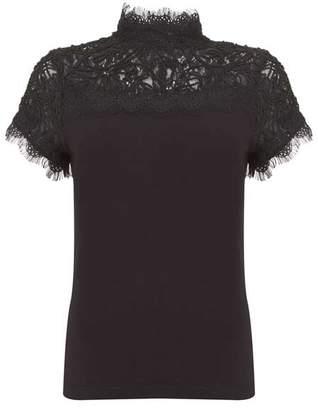 Mint Velvet Black Victoriana Sleeveless Knit