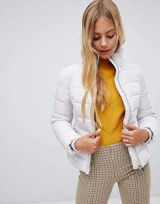Miss Selfridge padded jacket in silver