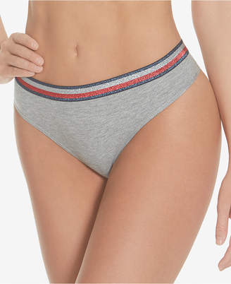 Tommy Hilfiger Women Shimmer Band Ribbed Thong R11T054