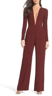 Dress the Population Drew Plunging Illusion Jumpsuit