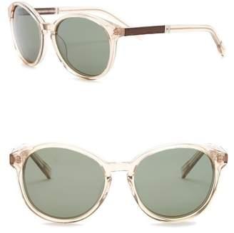 Shwood Women's Bailey Polarized 53mm Round Sunglasses