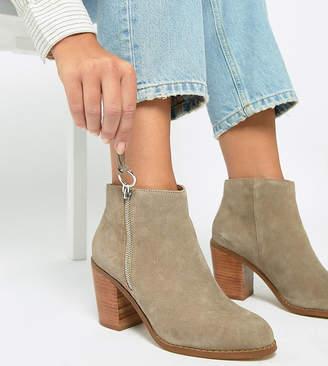 Asos DESIGN Wide Fit Explorer Suede Ankle Boots
