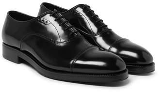 Prada Cap-Toe Spazzolato Leather Oxford Shoes