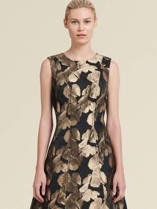 DKNY Gold Leaf A-Line Dress