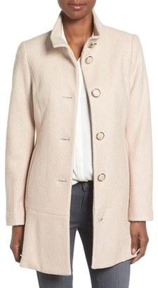 Women's Kensie Single Breasted Ruffle Hem Coat $228 thestylecure.com