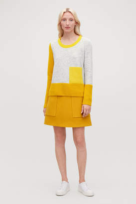 Cos COLOUR-BLOCK JUMPER WITH POCKET