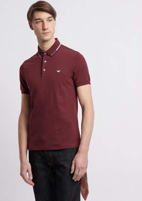 Emporio Armani Stretch Cotton Pique Polo Shirt