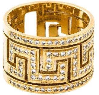 Ring 18K Diamond Greek Key Band