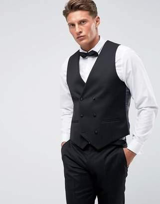Farah Smart Skinny Tuxedo Double Breasted Waistcoat