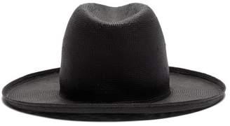 Federica Moretti Veil Straw Hat - Womens - Black