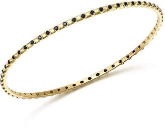 Armenta 18K Yellow Gold Sueno Black Sapphire Eternity Bangle