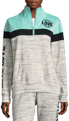 Flirtitude Fleece Half Zip Sweatshirt - Juniors