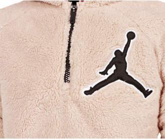 Nike Boys' Jordan Say Word Sherpa Full-Zip Hoodie