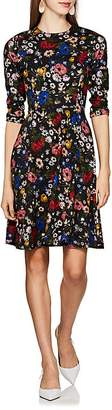 Erdem Women's Dione Floral-Print Ponte Dress