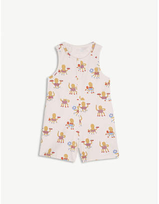 TINY COTTONS Octopus print cotton-blend playsuit 4-10 years