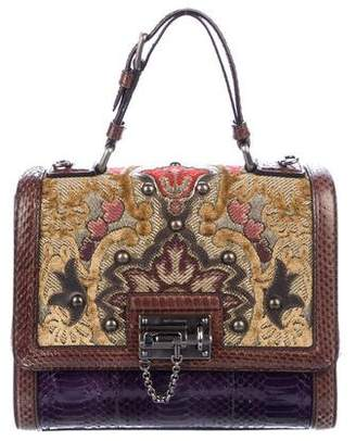 Dolce & Gabbana Snakeskin Baroque Monica Bag