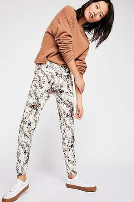 We The Free High-Rise Long And Lean Printed Cord Pants