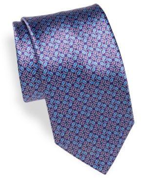 BrioniTwist Print Silk Tie