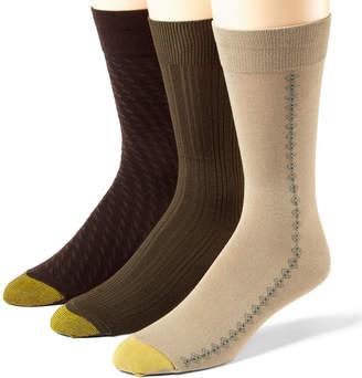 Gold Toe 3-pk. Dress Rayon from Bamboo Crew Socks