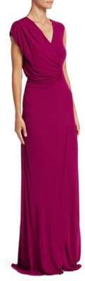 Roberto Cavalli Side Ruche Jersey Gown
