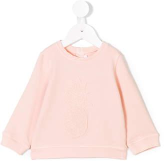 Chloé Kids lace-appliqué sweatshirt