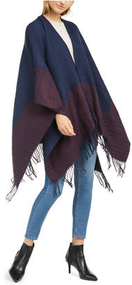 Charter Club Reversible Plaid Colorblocked Topper Scarf