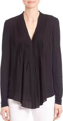 Elie Tahari Women's Willow Pleated-Front Silk Blouse