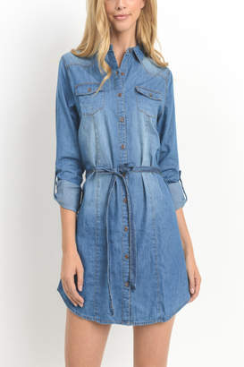 Cest Toi Chambray Shirt Dress