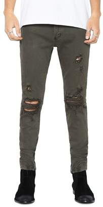 PATRON SAINT OF Wrath Straight Slim Fit Jeans in Army Trash