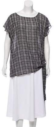 MICHAEL Michael Kors Plaid Printed Top w/ Tags