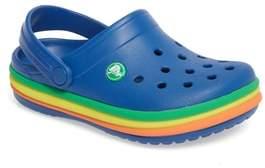 Crocs TM) Rainbow Band Clog