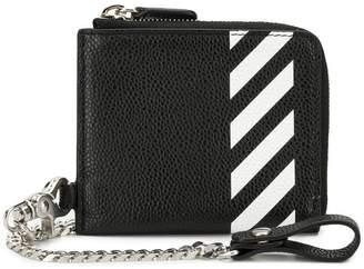 Off-White stripe chain wallet