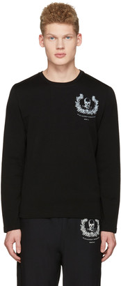 Alexander McQueen Black Skull Long Sleeve T-Shirt $295 thestylecure.com
