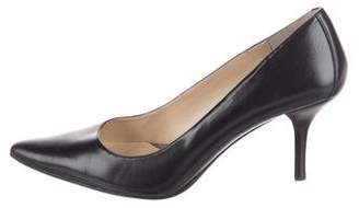 Calvin Klein Leather Pointed-Toe Pumps