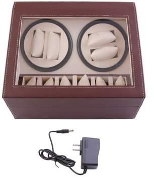 Fashionable Sunrain Design Luxury Men Women 10 Grid Leather Watch Box Organizer Jewelry Display Collection Storage Case Black/Brown