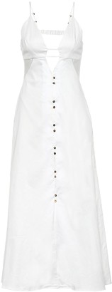 Cult Gaia Myrium stretch-cotton midi dress