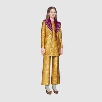 Gucci Floral brocade pant