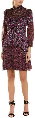 Anna Sui Silk Shift Dress
