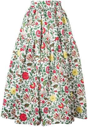 La Doublej floral full skirt