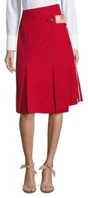 Prada Patch Pleated Skirt