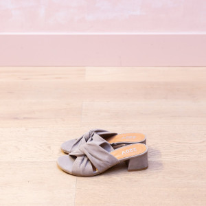 5b63f036496 Nude Suede Knot Sandal - 36 - Brown/Grey