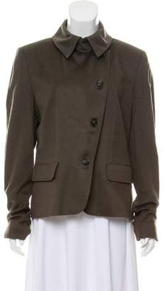 Max Mara Camel Hair Button-Up Jacket