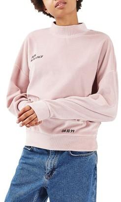 Women's Topshop New Romance Velvet Sweatshirt $58 thestylecure.com
