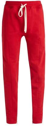 Fear Of God Drawstring Waist Cotton Jersey Track Pants - Mens - Red