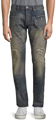 Cult of Individuality Men's Rocker Slim Straight Cotton Jeans