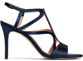 Halston Cutout Satin Sandals